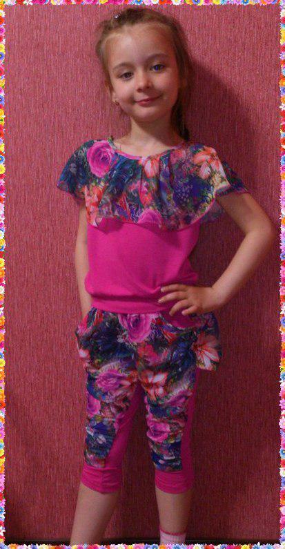 Детский костюм-двойка для девочки (разные цвета) 116-134 см