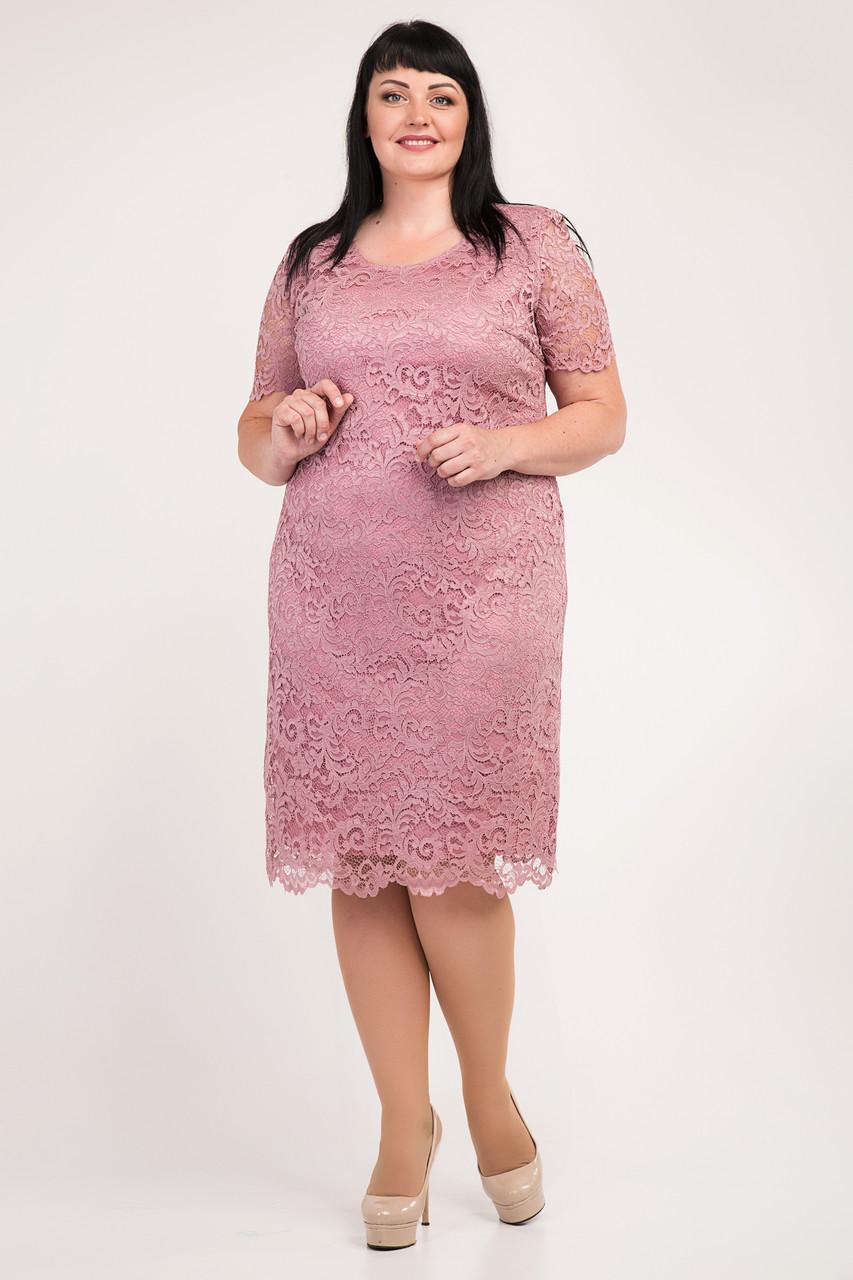 Нарядное платье из гипюра с 54 по 60 размер 3цвета