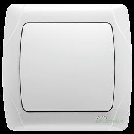 Выключатель одноклавишный Viko Carmen (белый)