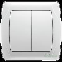 Выключатель двухклавишный Viko Carmen (белый)