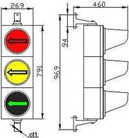 Светофор светодиодный СД Т2.7-С