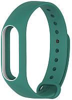 Ремешок браслет Mijobs для Xiaomi Mi Band 2 зеленый с белой рамкой