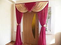 Ламбрекен и шторы на двери