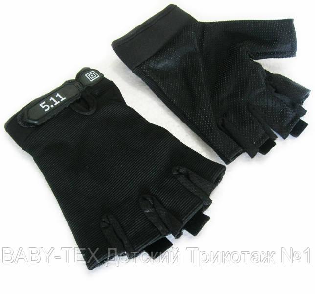 Перчатки без пальцев с логотипом 5.11 Черные