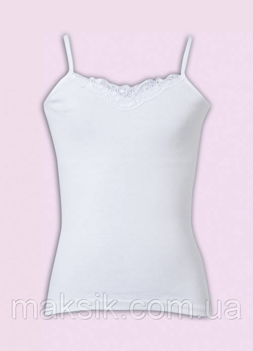 Белая майка  для девочки Donella р.98-104