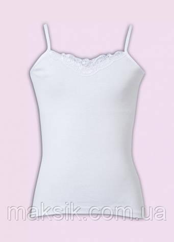 Белая майка  для девочки Donella р.98-128см, фото 2