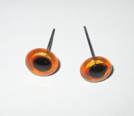 Глазки - гвоздики для игрушек 11 мм, коричневые