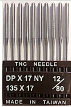 """Иглы для промышленных швейных машин """"Триумф""""DPх17 №80/12 (уп.10шт)"""