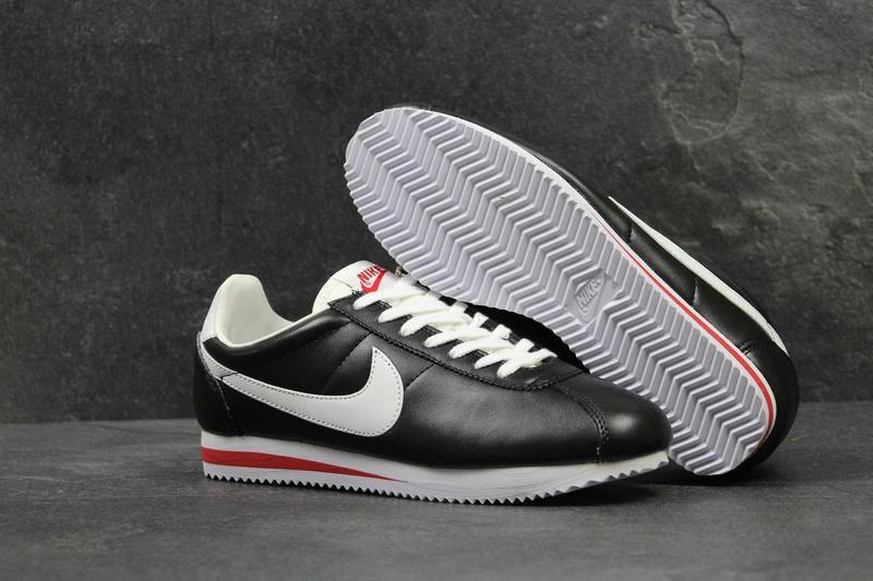 50d8ac83 Мужские кроссовки в стиле Nike Cortez, черные / кроссовки мужские Найк  Кортез, кожаные,