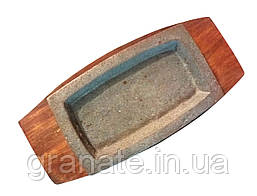 Сковорода чугунная на подставке для подачи блюд 205*125 мм
