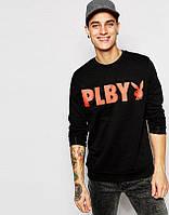 Спортивный свитшот, кофта, реглан , Playboy (черный) Реплика
