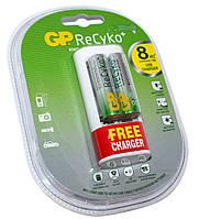 Зарядное устройство GP PowerBank U211, White + 2xAA GP 2000 mAh, 2xAA/AAA, зарядка от USB, кабель USB  microUSB (GPU211210AAHCBFMC-2UE2)