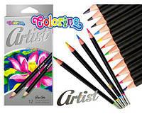 Олівці кольорові Colorino Artist м'які 12 шт, асорті (65498PTR)