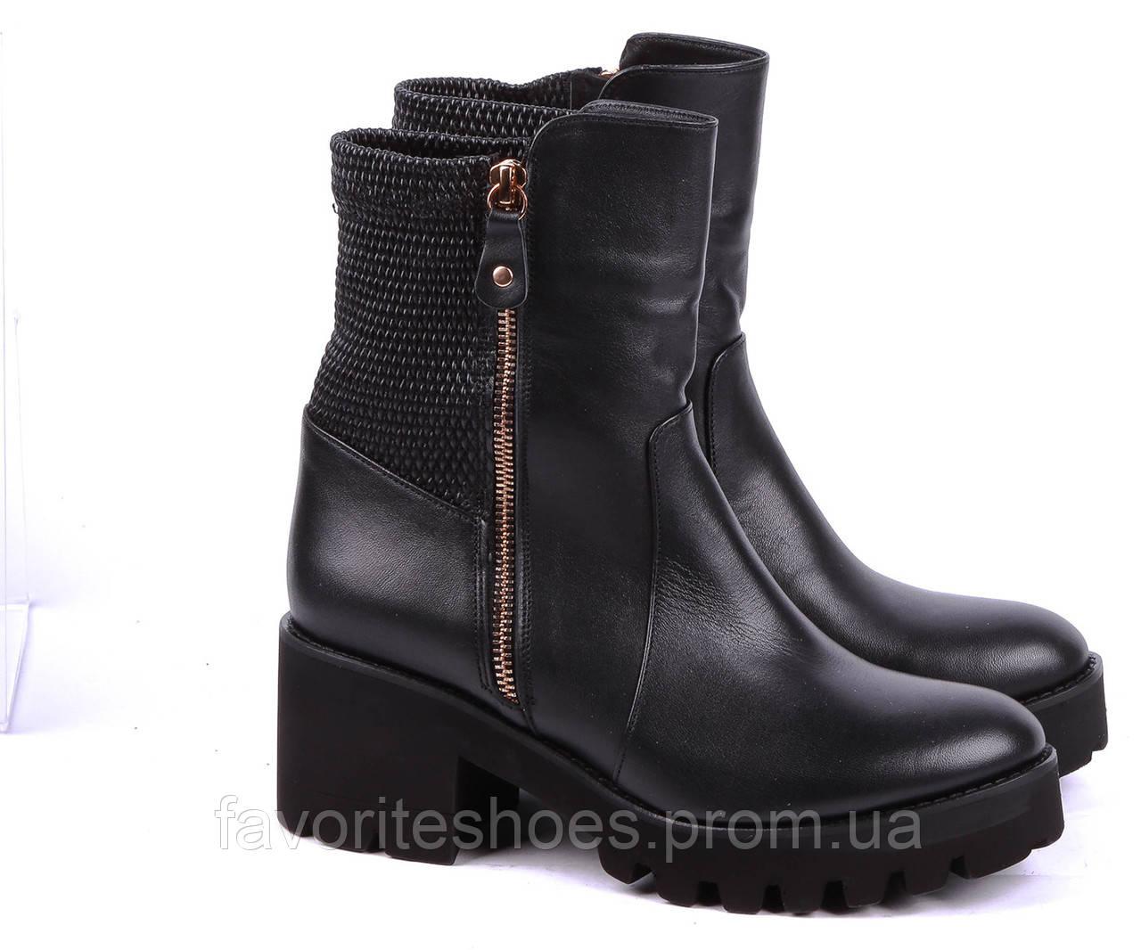 f4b4fcadeb342e Черевики осінні Unica Shoes 37 Чорний 00000006269 - Интернет-магазин