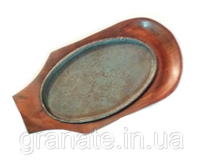 Сковорода порционная чугунная для подачи блюд 240х140 мм