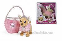Собачка CCL Чихуахуа Фешн Принцесса красоты в меховом манто с тиарой и сумочкой, 5+ Chi Chi Love 589 3126