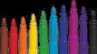 """Фломастери """"Brush"""" з вузлом, що пише, у вигляді кисті, що дозволяє варіювати товщину лінії 0,1-0,5 мм, 10 кольорів"""