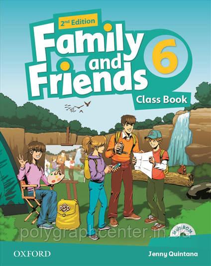 Family and friends 6 (2-edition) Комплект (Учебник + Тетрадь) Ч\Б Копия!