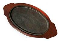 Сковорада чугунная на подставке для подачи 333*220 мм