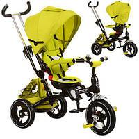 Велосипед M 3202A-3 (1шт)три кол.,резина(12/10),поворот,быстросъем.кол.,фикс.руля,звонок,зеленый