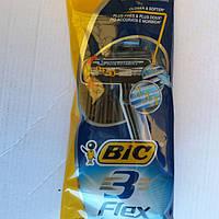Bic Flex 3 одноразовые станки 4 шт. Греция, фото 1