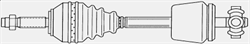 ШРУС левый для автомобилей с ABS Spidan 24160, 24161