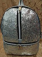 (Хит новый)Женский рюкзак искусств кожа с блестками качество городской спортивный стильный (только ОПТ) , фото 1