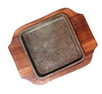 Сковорада чугунная на подставке для подачи 150*100 мм