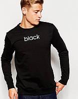 Спортивный свитшот, кофта, реглан , BLACK (ЧЕРНЫЙ)  Реплика