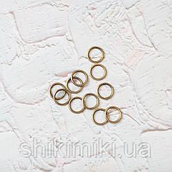 Кольцо соединительное маленькое  KL13 (13 мм), цвет золото
