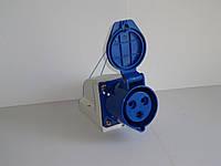 Розетка стационарная наружная 63А 3 контакта (2P+E)