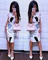 Красивое платье с поясом от 42 до 48 размера