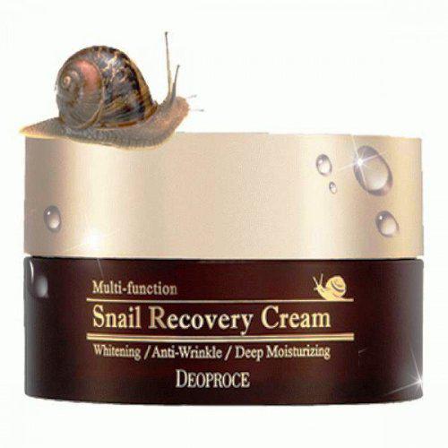 Восстанавливающий крем с улиточным муцином Deoproce Snail Recovery Cream