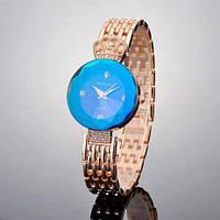 ТОПОВЫЕ!! Женские часы Baosaili (баосали) в ФИРМЕННОЙ коробке, золото с синим
