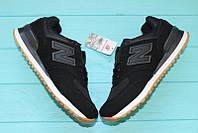 НОВИНКА! Мужские кроссовки New balance 574 Black/ Нью беланс Черные, размер 41, 42,44