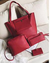 Набор женских сумок, сумка, клатч ,визитница.