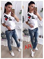 Стильная футболка D&G, размер универсальный 42-44, фото 2