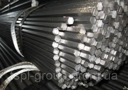 Калиброванный шестигранник 12 мм, сталь 35. h11