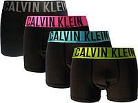 КОМФОРТНЫЕ! боксерки Calvin Klein Inten (Кельвин интенс Мужские трусы мини-шорты на широкой ЗОЛОТИСТОЙ резинке