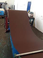 Темно-коричневый матовый двухсторонний профнастил