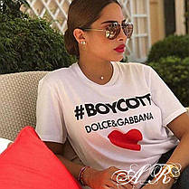 Модная женская футболка, размер универсальный 42-46, фото 3