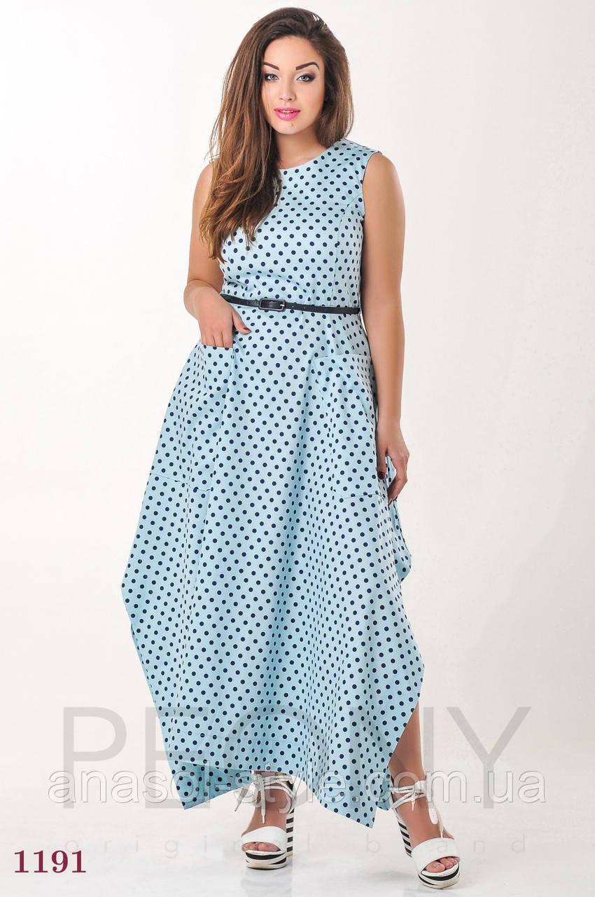 Платье Сантос (50 размер, голубой) ТМ «PEONY»