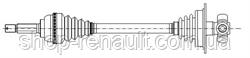 ШРУС левый (без ABS) MPI Metelli 17-0637 6001547028; 8200272322
