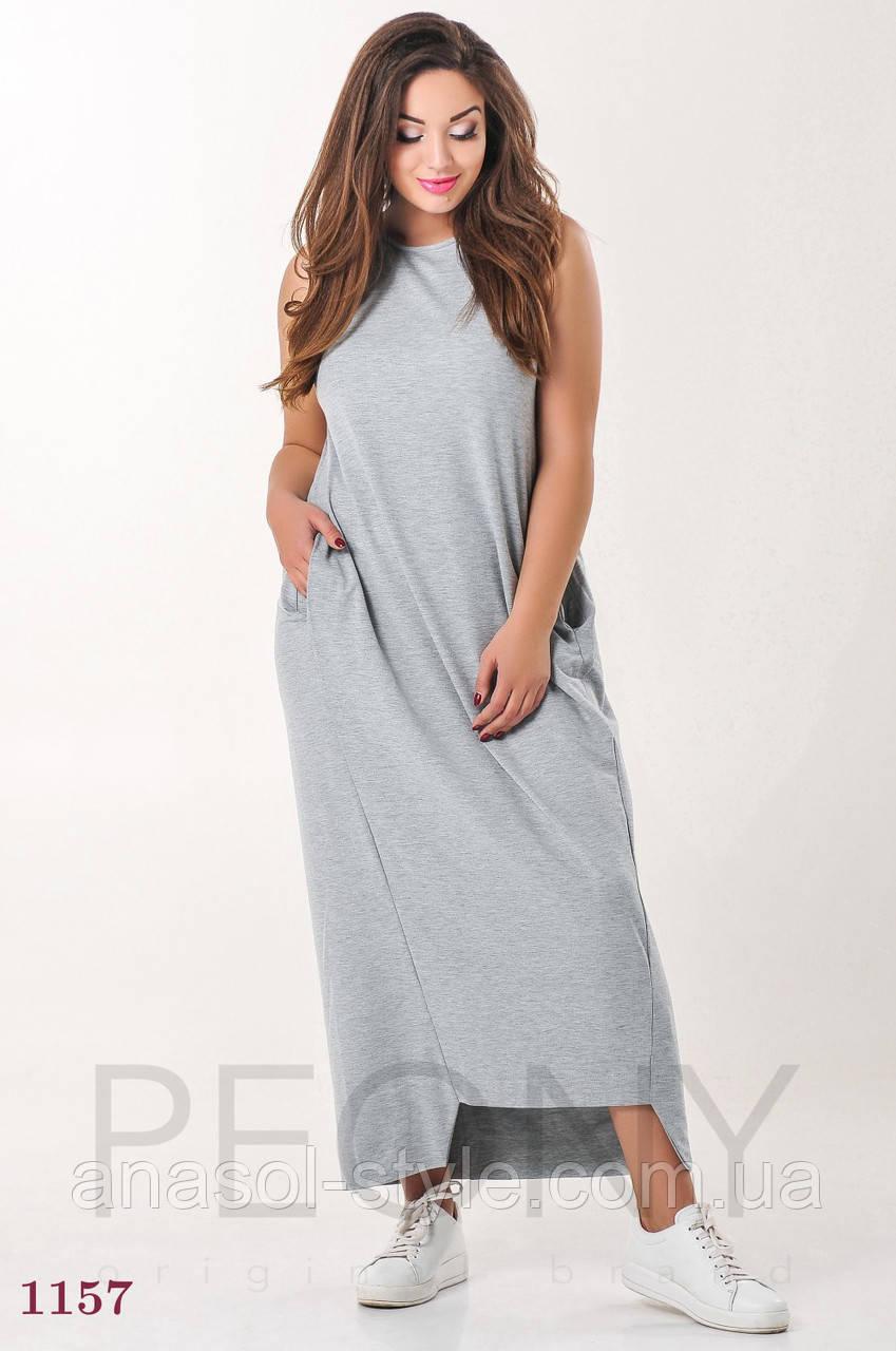 Платье Мелроуз (50 размер, серый) ТМ «PEONY»