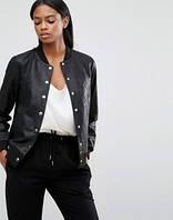 Брендова шкіряна жіноча куртка-бомбер Y.A.S.( Оригінал ) Розмір 40-42