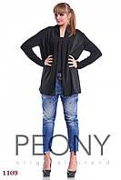 Женская туника Лестер-1 (48-50 размер, черный) ТМ «PEONY»