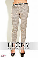 Женские брюки Барга (52 размер, бежевый) ТМ «PEONY»