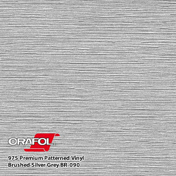 Oracal 975 Brushed Premium Structure Cast Silver Gray