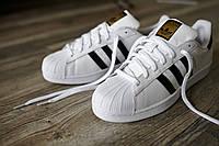 МОДНЫЕ!! Кроссовки ADIDAS SUPERST White (адидас суперстар) Женская спортивная обувь (реплика) р36-41