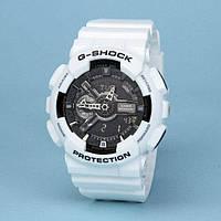 Стильные унисекс часы Casio G-SHOCK GA-110 WHITE BLACK AAA  (касио джи шок)